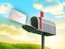 邮箱 皇族释放例证