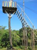 邮编衬里的一个暂时塔在Barinitas,委内瑞拉小山  库存图片