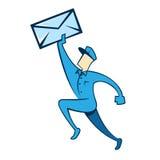 邮件人 库存图片