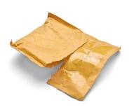 邮件包裹信封箱子半新开放邮政 免版税库存图片
