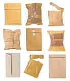 邮件包裹信封箱子半新开放邮政 库存照片