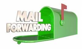 邮件向前移动的拆迁邮箱词 库存例证
