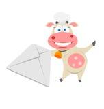 邮件母牛 库存照片