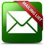 邮件表绿色方形的按钮 库存图片