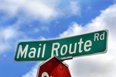 邮件路线 免版税库存图片