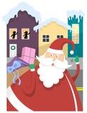 邻里圣诞老人 库存图片