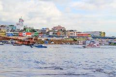 邻里在马瑙斯,亚马逊,巴西 免版税库存照片