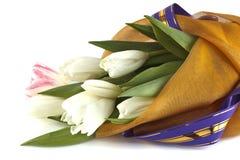 从郁金香的花束 免版税库存照片