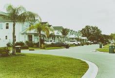 郊区住宅区 库存照片