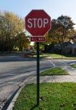 郊区停车牌 库存图片