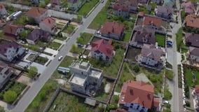 郊区卧室社区鸟瞰图在基希纳乌,摩尔多瓦 影视素材