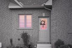 郊区家庭富有的行 库存图片