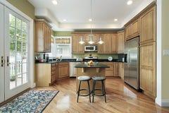 郊区家庭的厨房 库存图片