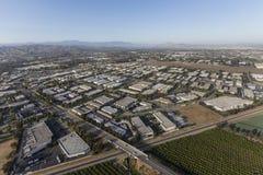 郊区工业园空中Camarillo加利福尼亚 库存图片