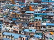 郊区房子屋顶视图 免版税库存图片