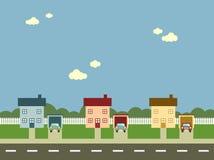 郊区的街道 免版税库存照片