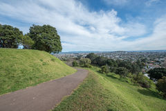 郊区看法从小山顶的 图库摄影