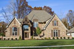 郊区美丽的房子 库存照片