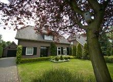 郊区荷兰语的房子 库存图片