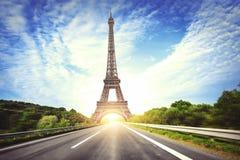 郊区高速公路在巴黎 免版税库存图片