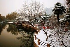 郑州在冬天 库存照片