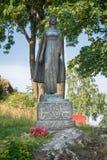 郡主克里斯蒂娜, Tonsberg -挪威雕象  库存图片
