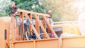 部分和辅助部件设施在缆车设施 免版税库存图片