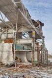 部分地被拆毁的大厦壳  免版税图库摄影