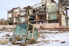 部分地被拆毁的大厦壳  图库摄影