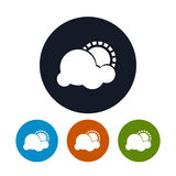 部分多云的象,传染媒介例证 免版税图库摄影