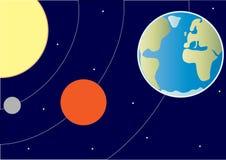 部分太阳系 免版税库存照片