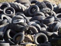 部分被佩带的轮胎 免版税图库摄影