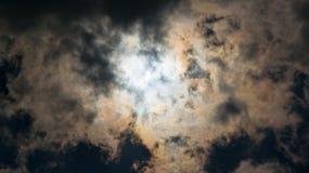 部分被蚀的太阳 库存照片