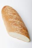 部分面包剪切末端法国的大面包 免版税图库摄影