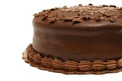 部分2个蛋糕的巧克力 免版税库存图片