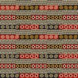 部族五颜六色的无缝的纹理 免版税库存图片