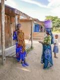 部族人在坦桑尼亚 免版税库存照片