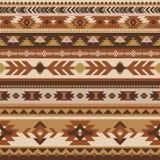 部族传染媒介无缝的样式 几何的阿兹台克人 免版税库存图片