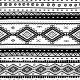 部族传染媒介无缝的样式 抽象背景被画的现有量 库存图片