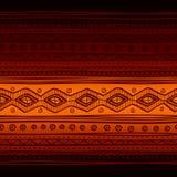 部族传染媒介无缝的织品样式 拉长的现有量 免版税库存照片
