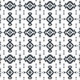 部族几何无缝的样式 库存例证
