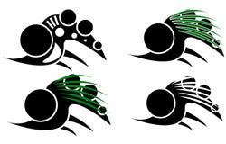 部族利用仿生学的纹身花刺组装 免版税库存照片