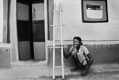 部族印度的生活 图库摄影