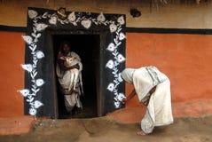 部族印度的绘画 免版税库存图片