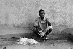 部族印度的绘画 免版税库存照片