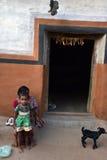 部族印度的贫穷 免版税库存照片