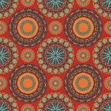 部族坛场样式无缝的样式的boho别致的设计与南西部颜色口气 免版税库存图片