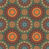 部族坛场样式无缝的样式的boho别致的设计与南西部颜色口气 库存图片