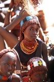 部族女孩第2 库存照片