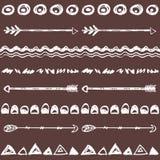 部族手拉的背景,概念乱画样式 免版税图库摄影